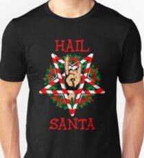 hail santa shirt funny christmas t shirt rock metal gift unisex t shirt - Metal Christmas Sweaters