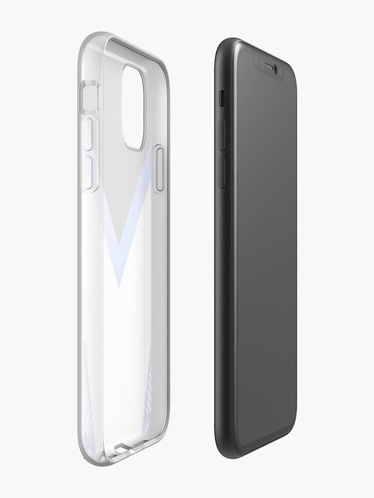 étui iphone xs max transparent - Coque iPhone «Conception géométrique esthétique de l'ours polaire», par warddt