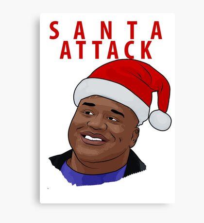Santa Attack Canvas Print