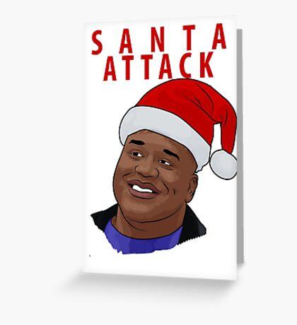 Santa Attack Greeting Card