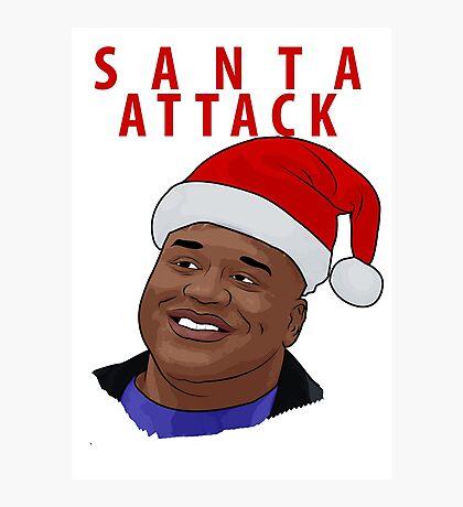 Santa Attack Photographic Print