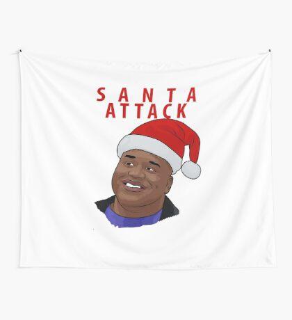 Santa Attack Wall Tapestry