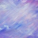 Ultra violet purple abstract float painting by Sarah Trett