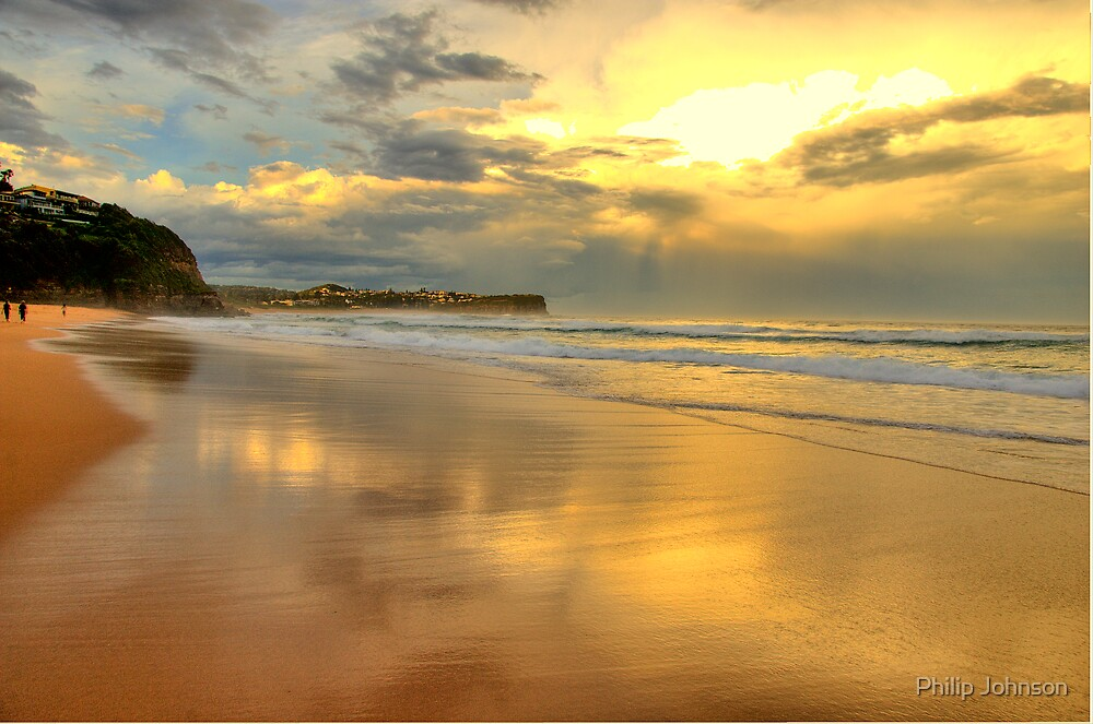 Golden Reflections - Warriewood & Mona Vale Beaches - The HDR Series by Philip Johnson