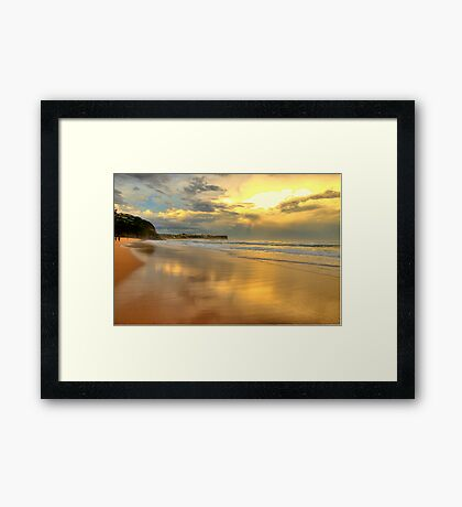 Golden Reflections - Warriewood & Mona Vale Beaches - The HDR Series Framed Print