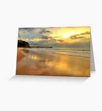 Golden Reflections - Warriewood & Mona Vale Beaches - The HDR Series Greeting Card