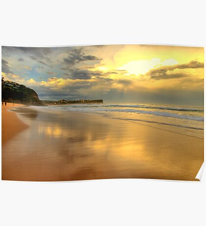 Golden Reflections - Warriewood & Mona Vale Beaches - The HDR Series Poster