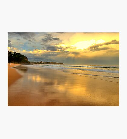 Golden Reflections - Warriewood & Mona Vale Beaches - The HDR Series Photographic Print