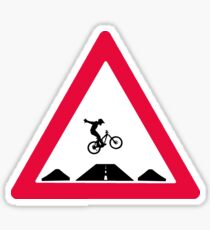 Bike trail crossing Sticker