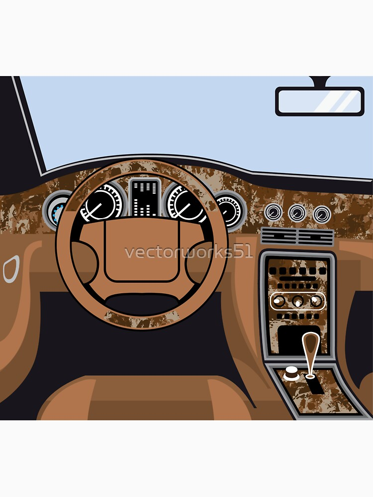 Car Interior Wood Trim Unisex T Shirt By Vectorworks51 Redbubble