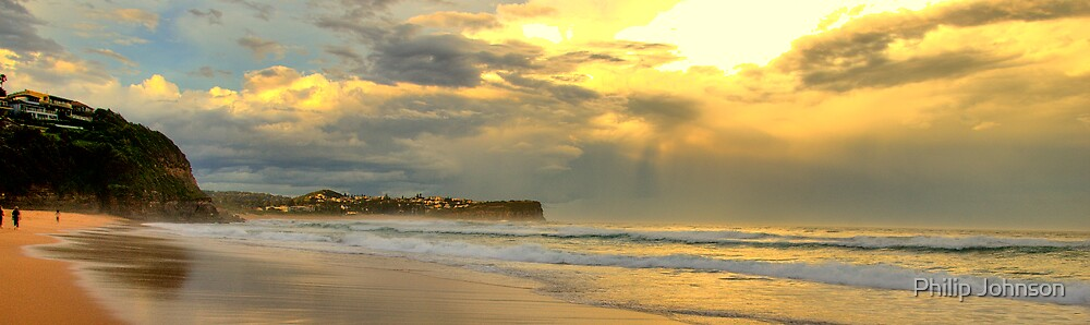 Golden Reflections(The Photographers Cut) - Warriewood & Mona Vale Beaches - The HDR Series by Philip Johnson