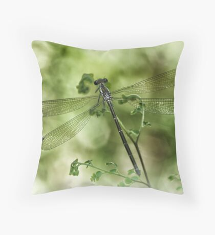 A tiny one hidden in the green by the pond Throw Pillow