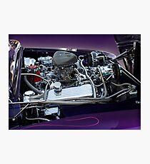 retro car engine engine Photographic Print