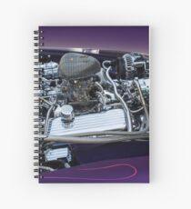 retro car engine engine Spiral Notebook