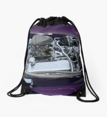 retro car engine engine Drawstring Bag