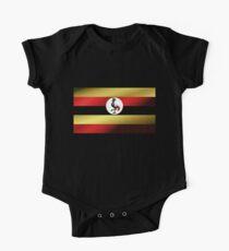 Uganda Flag One Piece - Short Sleeve