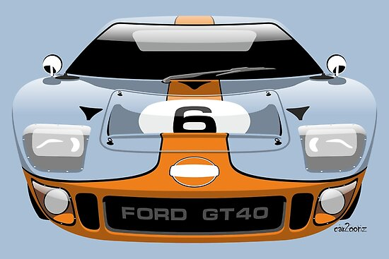 Ford Gt  Gulf Racing Livery By Caroonz