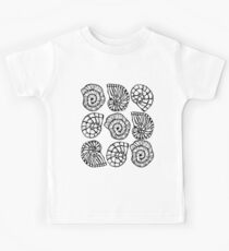 Sea shells beach life! Repeat transparent bg Kids Clothes