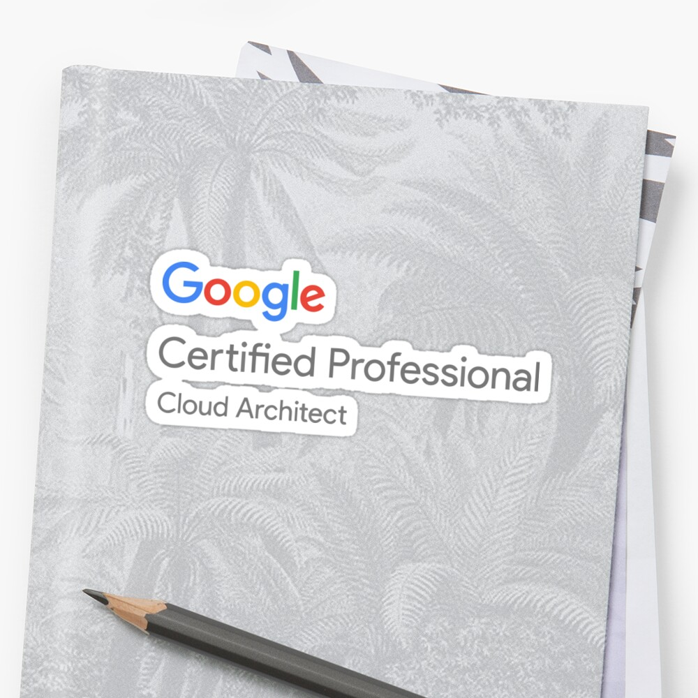 Google Cloud Architect Certification Logo Stickers By