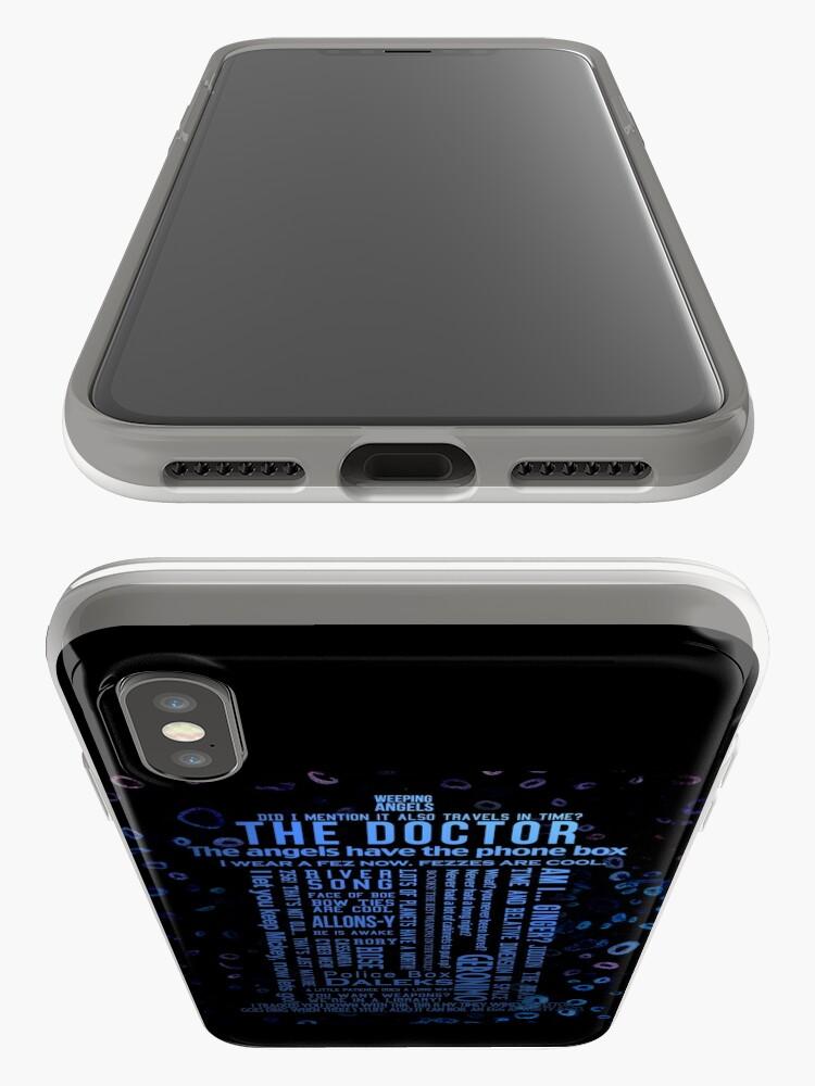 Alternative Ansicht von Doctor Who Quotes iPhone-Hüllen & Cover