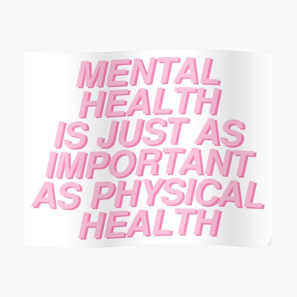 la salud mental es tan importante como la salud física Póster