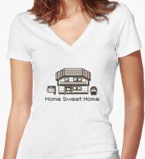 Pokemon - Home sweet Home Women's Fitted V-Neck T-Shirt