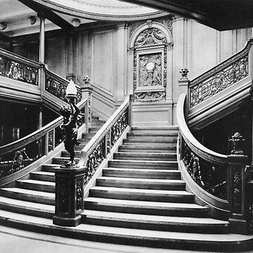 Titanic Grand Staircase by longdistgramma