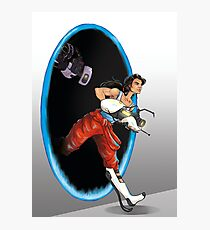 Fanart Portal - Chell and GLaDOS Photographic Print