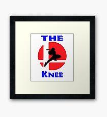 The knee - Captain Falcon Framed Print