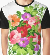 Computer Generated Flowers  Graphic T-Shirt