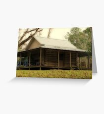Log Cabin from the Past Greeting Card