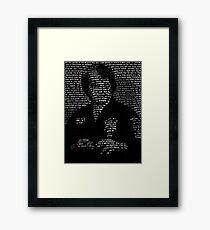 Ed Parker Text Portrait Design Framed Print