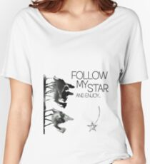 Follow My Star And Enjoy Funkyou Design Women's Relaxed Fit T-Shirt