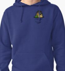 Too Many Birds! - Yellow-Sided Green Cheek Conure Pullover Hoodie