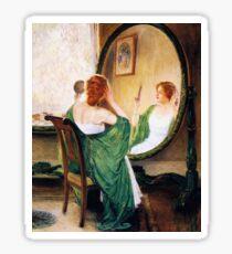 Vintage Guy Rose - Green Mirror 1911 Fine Art Sticker