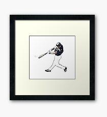 Comic Baseball Player Framed Print