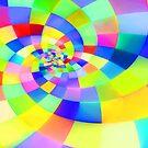 Multicolor square spiral by Richard VIGNIEL