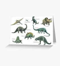 Dinosaur montage Greeting Card