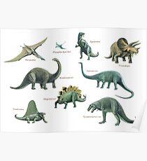 Dinosaur montage Poster