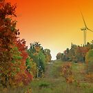 Maine Windmill At Sunset 2 by Gene Cyr