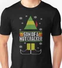 Son Of A Nutcracker Ugly Christmas Sweater Elf T-Shirt Slim Fit T-Shirt