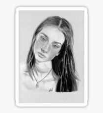 portrai grey Sticker