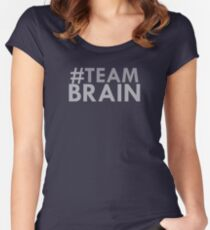 #teambrain Women's Fitted Scoop T-Shirt
