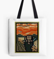 The Scrixel - Pixelated The Scream Tote Bag