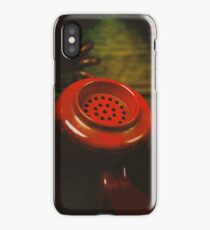 Red Retro Phone iPhone Case/Skin