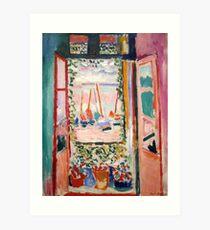 The Open Window- Henri Matisse Art Print