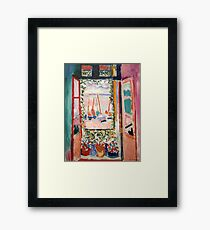 The Open Window- Henri Matisse Framed Print