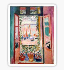 The Open Window- Henri Matisse Sticker