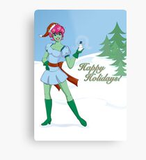On the Nice List Metal Print