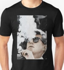 John F Kennedy Cigar And Sunglasses Unisex T-Shirt